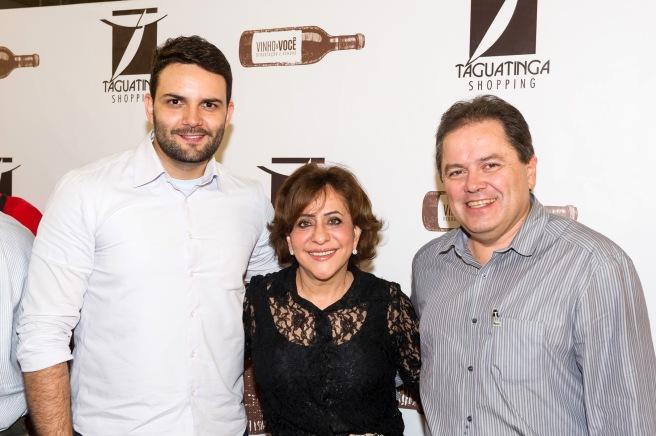 César Santos, Eliza Ferreira e Edmar Barros (Foto: Telmo Ximenes)