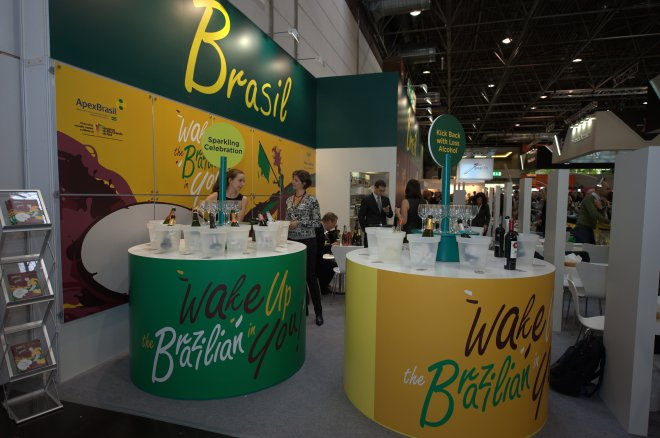 2015 marca a 11ª participação do Wines of Brasil no evento. Na foto, estande de 2014 (Foto: Thomas Luenen)