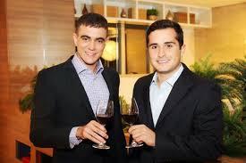 Os empresários criadores do evento Tiago Correia e Guto Jabour.
